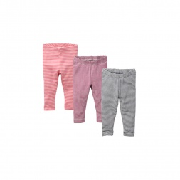 Stripe Baby Leggings Trio