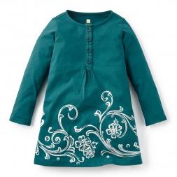 Fileteado Henley Dress | Tea Collection