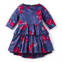 Fileteado Flor Peplum Dress | Tea Collection
