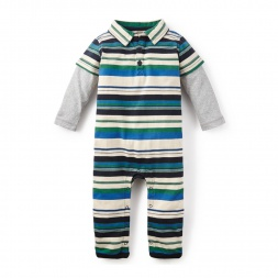 Emanuel Striped Polo Romper
