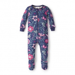 Floreado Líricos Footed Pajamas