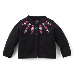 Embroidered Baby Sweater | Tea Collection