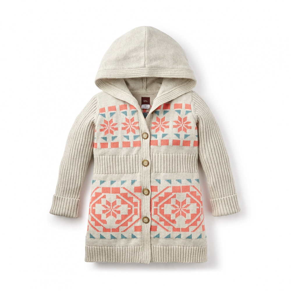 Tea Collection Nadia Hooded Cardigan