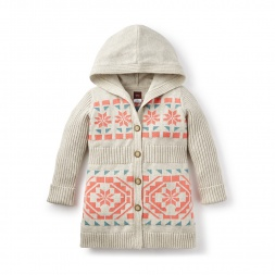 Hooded Girls Cardigan