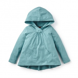 Azul Hooded Hi-Lo Top