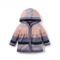 Graciela Hooded Baby Cardigan