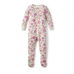 Blooming Jasmine Footed Pajamas