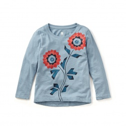 Girls Blue Flower Shirt