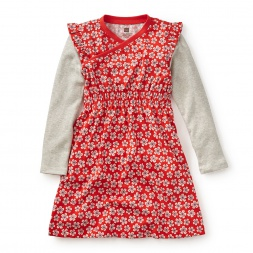 Girls Double Decker Wrap Dress
