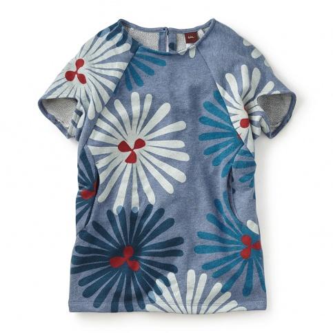 Girls Blue Flower Shirt