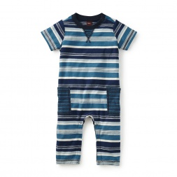 Daiki Striped Cargo Romper