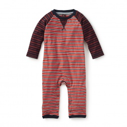 Kouki Striped Raglan Romper