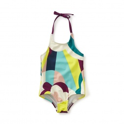Balla Abstract Halter One-Piece