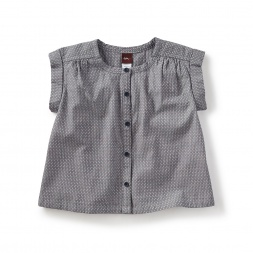 Chambray Button-Front Top