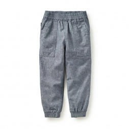 Jet-Set Chambray Jogger Pants