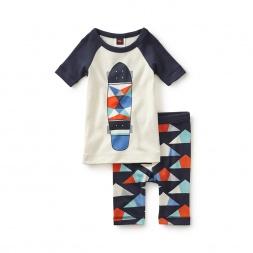 Geometrico Skateboard Pajamas