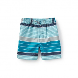 Beach Stripe Swim Trunks