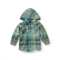 Salvatore Plaid Button Hoodie