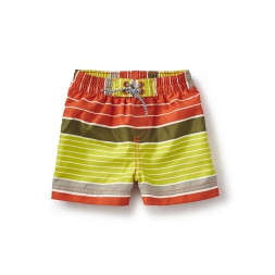 Beach Stripe Baby Swim Trunks