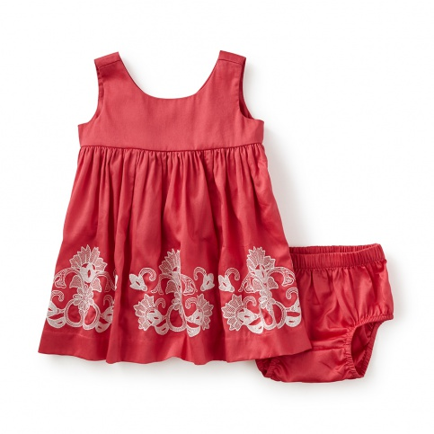 Pantheon Embroidered Baby Dress