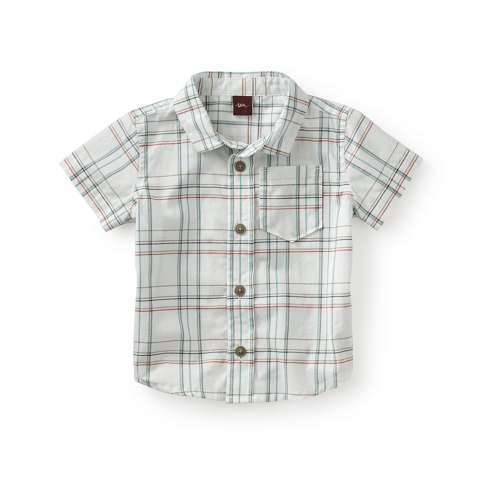 Enrico Plaid Baby Shirt