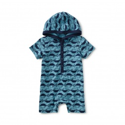 School of Fish Hooded Romper