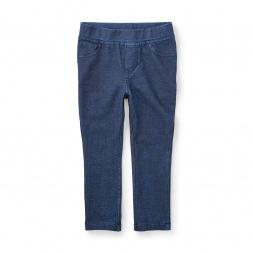 Denim Knit Pant for Little Girls | Tea Collection