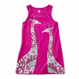 Long Necks Graphic Dress