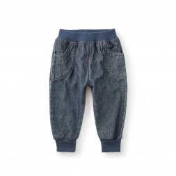 Canvas Cuffed Baby Pants