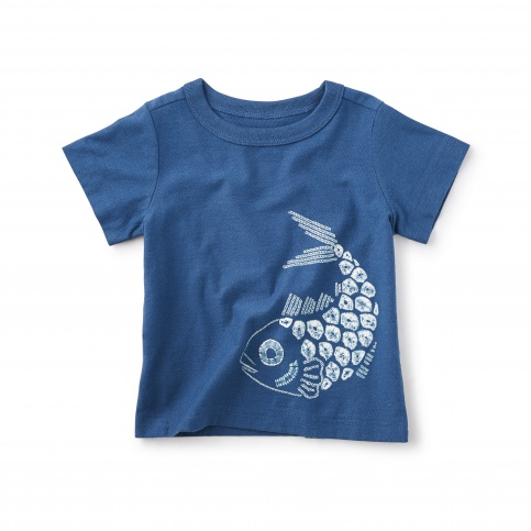 Shibori Fish Graphic Tee