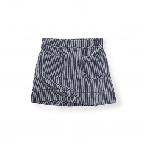 Monaka Striped Pocket Skirt