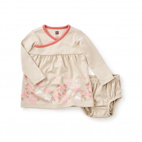 Mika Wrap Neck Baby Dress