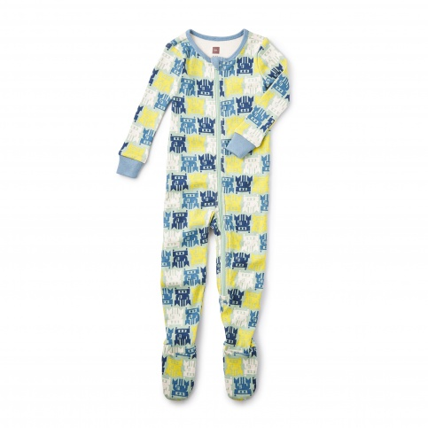 Omocha Robot Footed Baby Pajamas