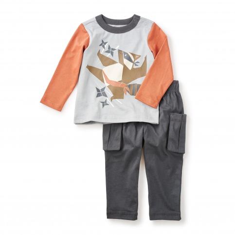 Tanuki Ninja Baby Outfit