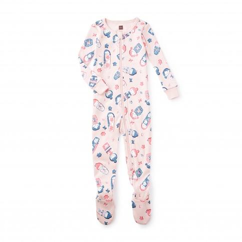 Yoi Yume O Footed Baby Pajamas