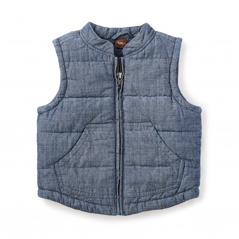Citizen Chambray Quilted Vest