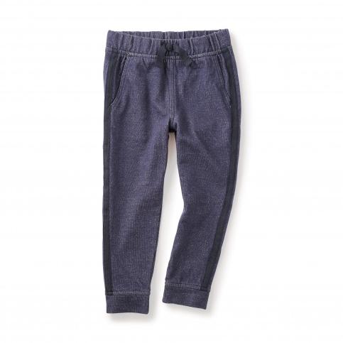 Denim Like Side Stripe Pants