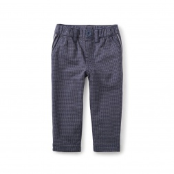 Windowpane Traveller Baby Trousers