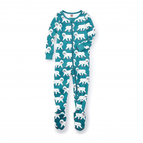Snow Monkey Footed Pajamas