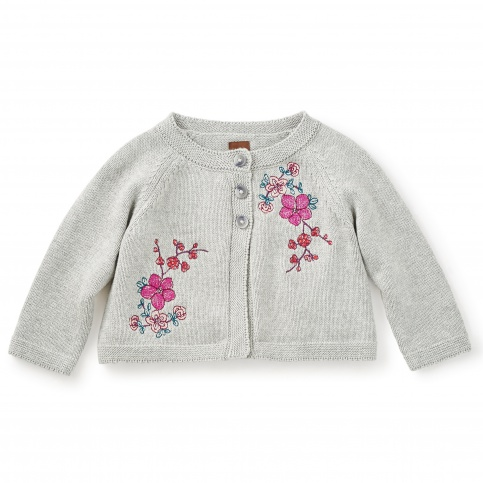 Wago Embroidered Baby Cardigan