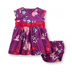 Hatsu Wrap Neck Baby Dress