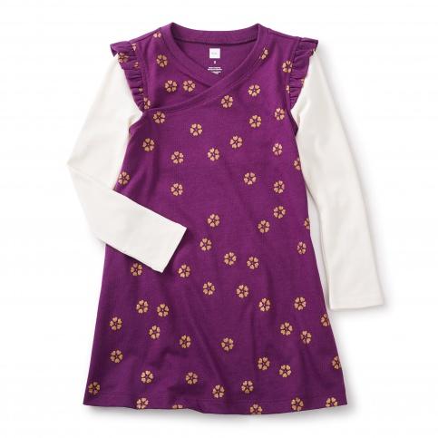 Uzu-uzu Wrap Neck Dress
