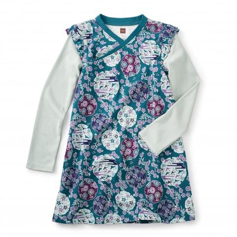 Monaka Wrap Neck Dress