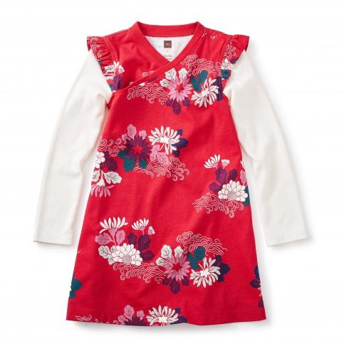 Kata Wrap Neck Dress