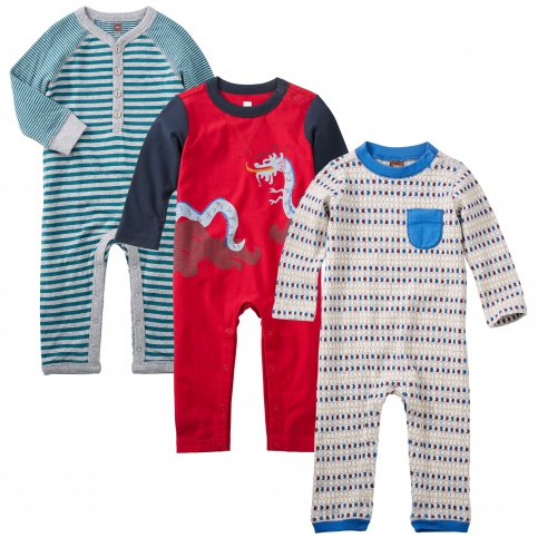 A Round of Rompers Set