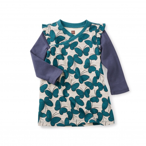 Nansei Wrap Neck Baby Dress