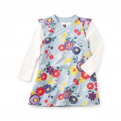 Yukar Wrap Neck Baby Dress