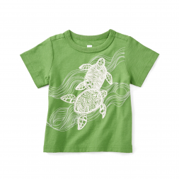 Batik Turtles Graphic Baby Tee