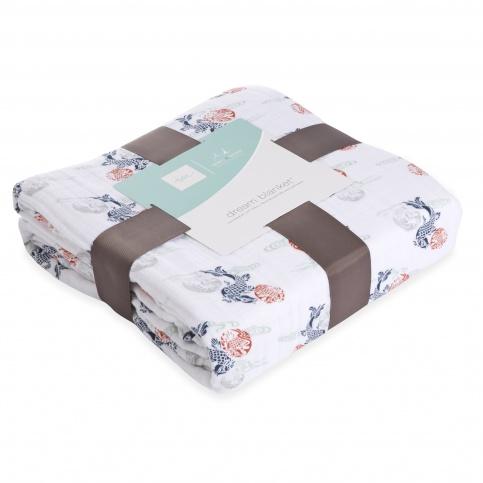 tea x aden + anais Fish Pond Dream Blanket