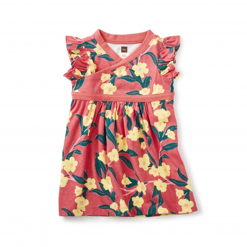 Adelaide Wrap Neck Baby Dress